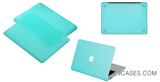 21-INV ® Macbook Extra Slim Hard Case - Rubberized for Apple Macbook Pro 13.3 Inch 13 (A1278  Without Retina Display) Plus 2 Pcs Matching Color Chevron Zig-Zag Keyboard Cover Skin (TURQUOISE)