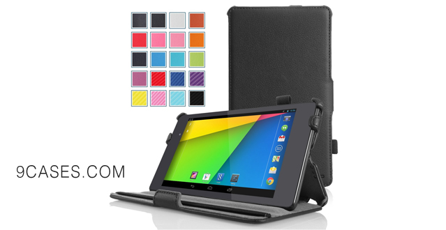 01-MoKo Google New Nexus 7 FHD 2nd Gen Case - Slim-Fit Multi-angle Stand Cover Case for Google Nexus 2 7.0 Inch 2013 Generation Android 4