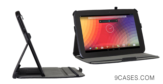 02-Blurex Ultra-Slim Case for Nexus Tabet -- With Smart Cover Auto Wake Sleep Feature (Nexus 10, Black)
