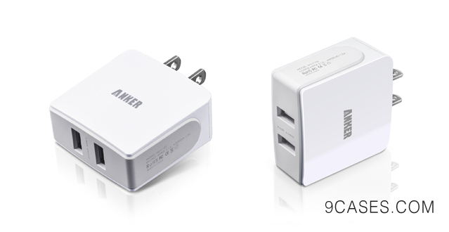 03-Anker® 18W / 3.6A Dual-Port USB Wall Charger / Portable Travel Charger - Simultaneous, full-speed charging (white)