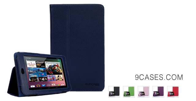 05-SupCase Slim Fit Folio Leather Tablet Case Cover with Smart Cover Function for Google Nexus 7, Deep Blue (G7-62A-DB)