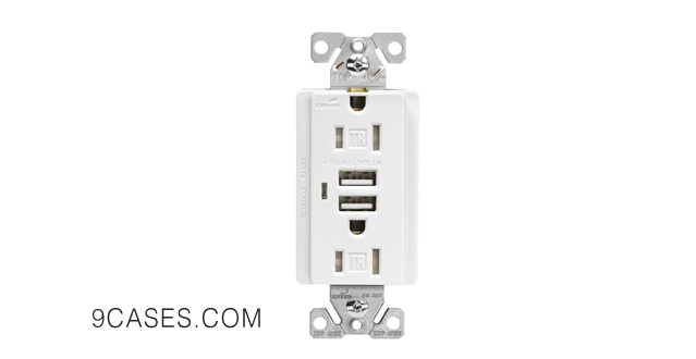 07-Cooper Wiring Devices TR7745W-BOX Combination USB Charger with Tamper Resistant Receptacle and Box, 15-Amp, White Finish