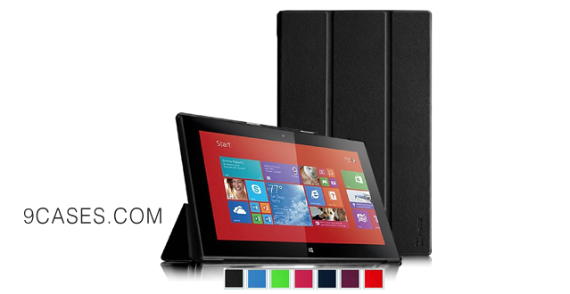 08-Fintie Nokia Lumia 2520 Slim Shell Case - Ultra Slim Lightweight Stand Cover for Nokia Lumia 2520 10