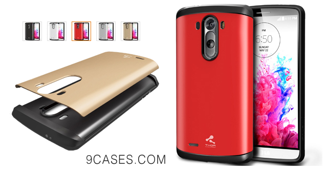 08-[Red] Verus LG G3 Case [Thor] - Extra Slim Fit Dual Layer Hard Case - Verizon, AT&T, Sprint, T-Mobile, International, and Unlocked - Case for LG G3