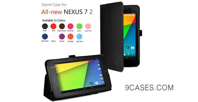 14-Exact Folio Case for Google Nexus 7 FHD 2nd Gen 2013 Android Tablet by Asus Black