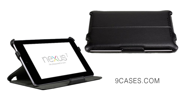 15-EXOTEK Premium Slim-Fit Folio Cover Case With Multi-Angle Stand For Google Nexus 7 Tablet