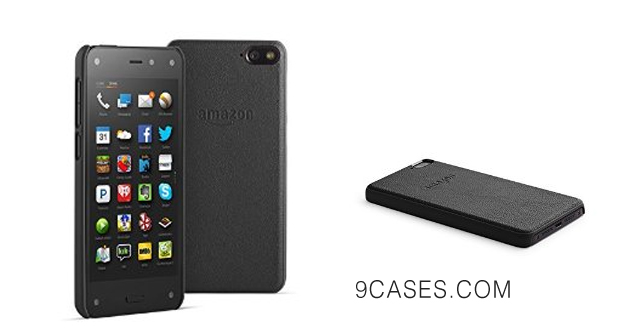 01-Amazon Leather Case for Fire Phone, Black