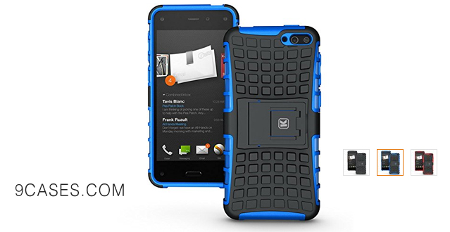 05-KAYSCASE ArmorBox Heavy Duty Cover Case for Amazon Fire Smartphone (Lifetime Warranty)(Blue)