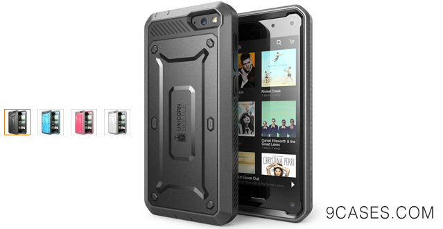 06-SUPCASE Amazon Fire Phone Case - Unicorn Beetle PRO Series Full-body Hybrid Protective Case with Built-in Screen Protector