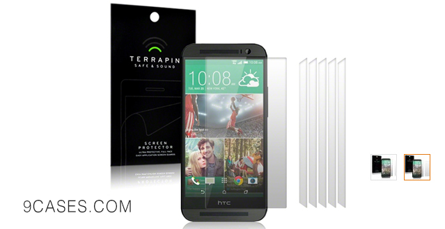 06-Terrapin Screen Protector for HTC One (M8 & E8) (6-pack)