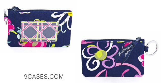 06-Vera Bradley Zip ID Case in Ribbons