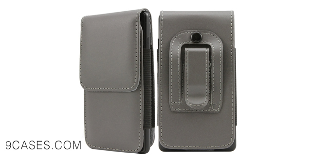 07-iTALKonline HTC One E8 Ace PU Leather GREY Vertical Executive Side Wallet Pouch Case Cover with Belt Loop