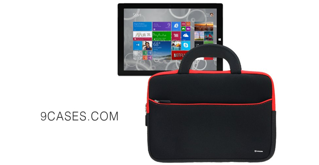 08-Evecase UltraPortable Handle Carrying Portfolio Neoprene Sleeve Case Bag for Microsoft Surface Pro 3 2014 New 12-inch Intel Core i3