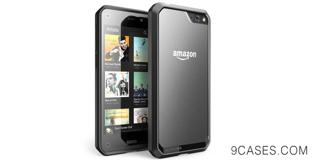 08-SUPCASE Amazon Fire Phone Case - Unicorn Beetle Premium Hybrid Protective Case (Frost Clear Black Black), Compatible with Fire Phone 2014 Release