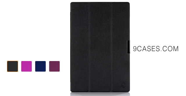 09-Exact Microsoft Surface Pro 3 Case [SLENDER Series] - Ultra Slim Lightweight Smart-shell Stand Case for Microsoft Surface Pro 3 Black