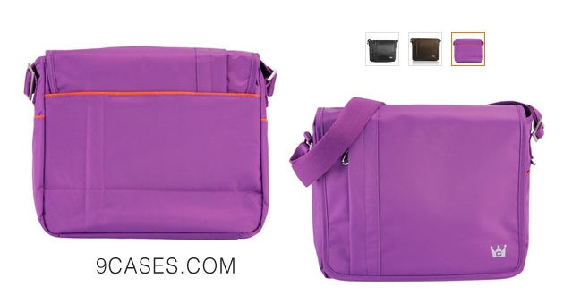 10-CaseCrown Horizontal Mobile Messenger Bag (Purple) for Microsoft Surface Microsoft Surface Pro