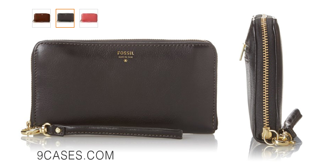 11-Fossil Sydney Zip Clutch Wallet