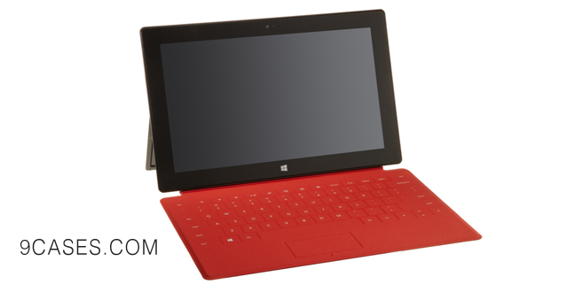 12-Red Touch Cover for Microsoft Surface
