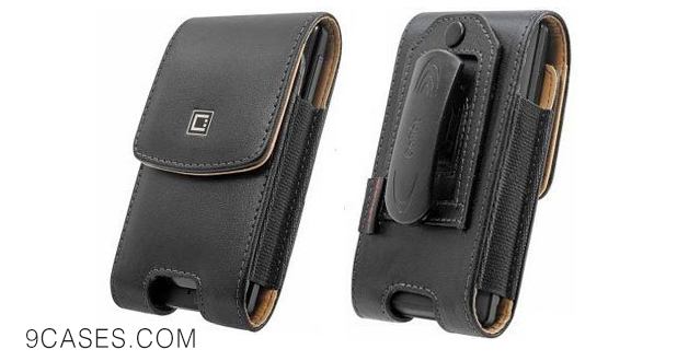 13-Motorola MOTO E Executive Vertical Leather Case Pouch Built In Magnetic Flap and 2 Belt Clips (Fixed & Swivel)