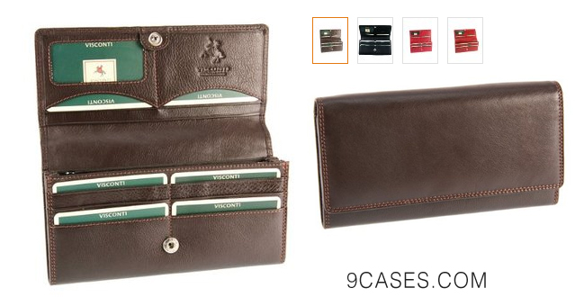 15-Visconti Heritage -35 Soft Leather Large Ladies Purse Wallet