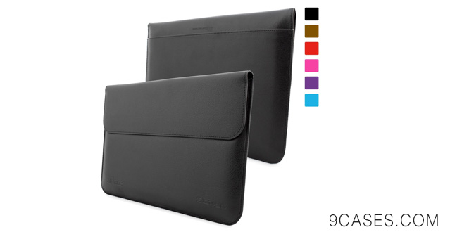 01-Snugg Microsoft Surface 1 & 2 Leather Wallet Case in Black for RT and Pro