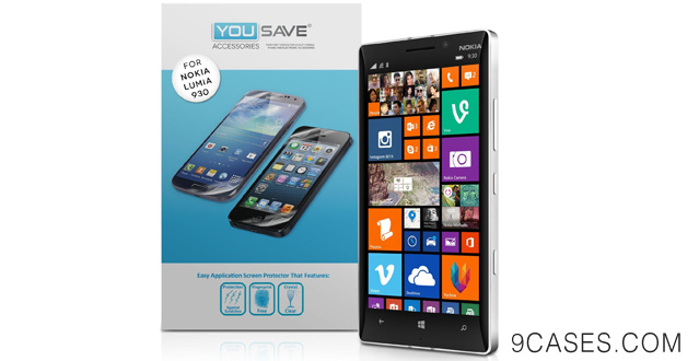02-Yousave Accessories Nokia Lumia 930 Screen Protector Three Pack