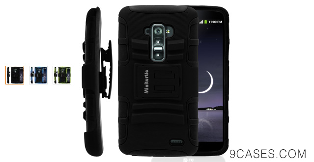 05-MINITURTLE, 2 in 1 Hybrid Dual Layer Armor Phone Case Cover with Kickstand,