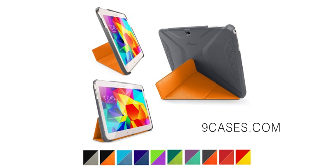 06-roocase Samsung Galaxy Tab S 4 8.4 Case - Origami 3D [space Gray roocase Orange Slim Shell 8.4-Inch 8