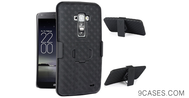 07-Maxboost Shell Holster Combo - Protective Case for LG G Flex with Kick-Stand Belt Clip Holster