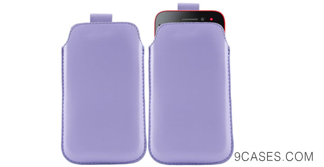 08-iTALKonline LILAC Quality PU Leather Slip Pouch Protective Case Cover with Pull Tab For BlackBerry Z3