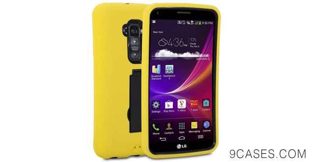 09-LG G Flex Case, GMYLE(R) Heavy Duty Armor Stand Case for LG G Flex -