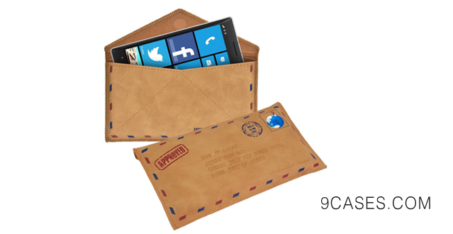 09-kwmobile Chic Leathercase for the Nokia Lumia 930 Mail design - Leather protection case with extremely stylish design