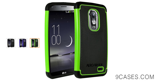 11-AERO ARMOR Protective Case for LG G Flex - Green