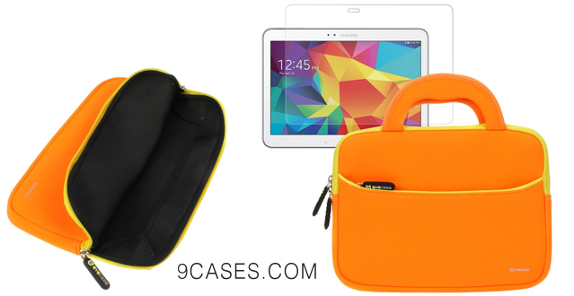 11-BIRUGEAR Ultra Portable Carrying Neoprene Sleeve Case w Screen Protector for Samsung Galaxy Tab S 10.5 SM-T800 SM-T805 10
