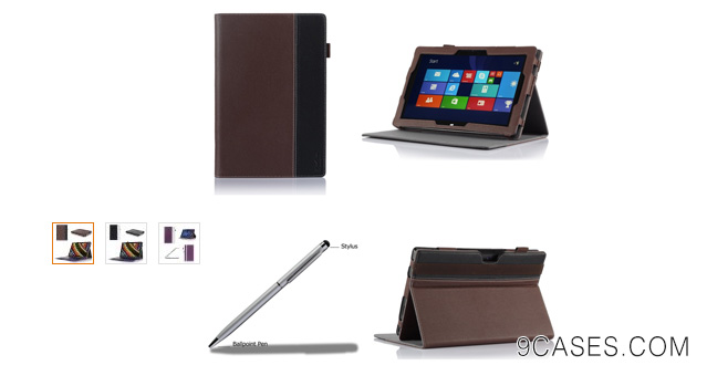 12-ProCase Premium Folio Case with Stand for Microsoft Surface PRO 2