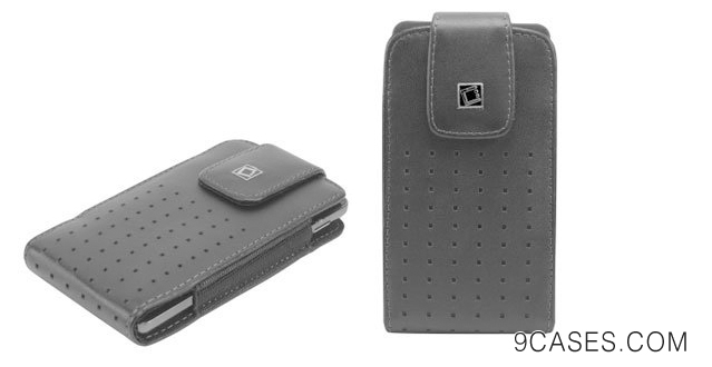 13-Nokia Lumia 930 Teramo Vertical European Leather Case Pouch Built In Magnetic Flap and Spring Belt Clip