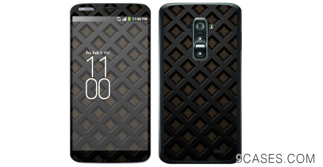 14-MightySkins Protective Skin Decal Cover for LG G Flex Sticker Skins Black Wall