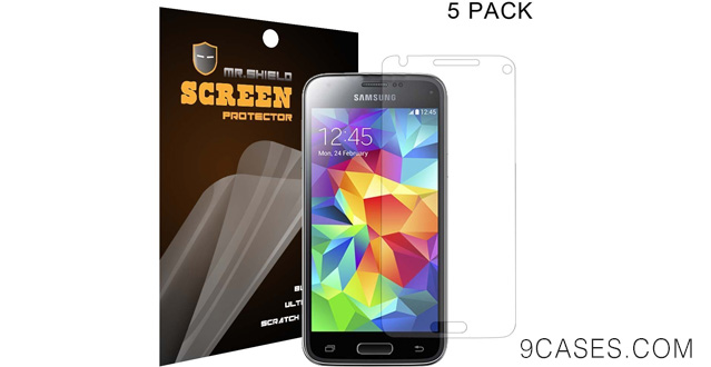 01-[5-PACK] Mr Shield Samsung Galaxy S5 Mini DX Premium Clear Screen Protector with Lifetime Replacement Warranty