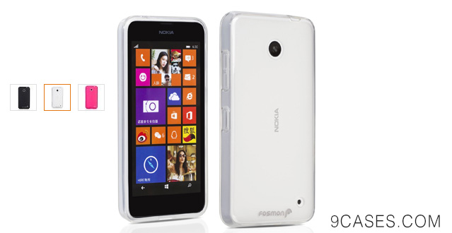 05-Fosmon Nokia Lumia 635 SLIM-Fit Case [DURA FRO] Flexible TPU Cover - Retail Packaging (Clear)