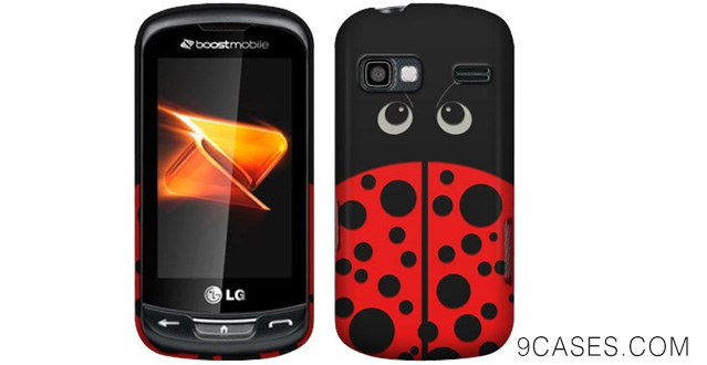 05-LG Rumor Reflex LN272 Red Lady Bug Rubberized Cover