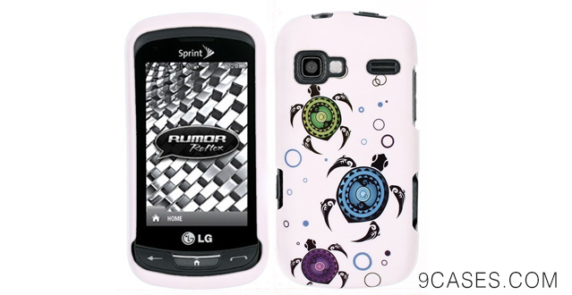 06-FINCIBO (TM) Protector Cover Case Snap On Hard Plastic For LG Rumor Reflex LN272 Xpression C395 - Turtles