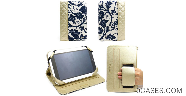 06-JAVOedge Fleur Folio Case with Stand for the Barnes & Noble Nook HD 7