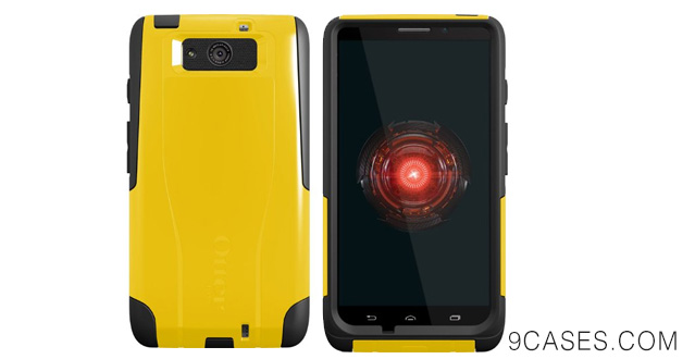 09-OtterBox Commuter Series Case for Motorola DROID Ultra - Retail Packaging - Yellow Black