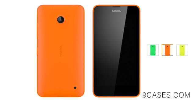 10-Nokia Shell for Lumia 635 630 - Retail Packaging - Bright Orange