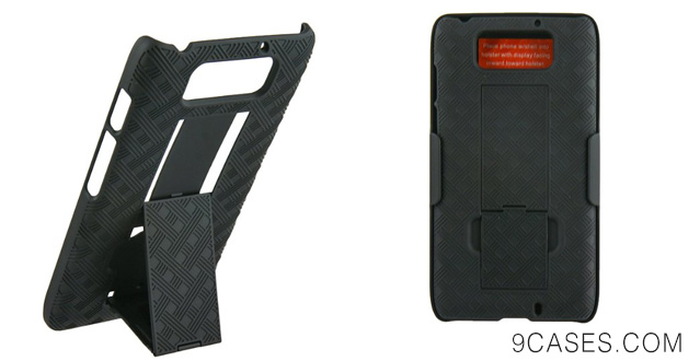 11-VZW Hard Shell Case w Holster Combo for Motorola DROID Ultra XT1080
