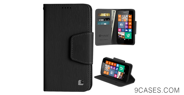 12-Spots 8 Nokia Lumia 635 630 Luxury Flip Premium Pu Leather Folio Cover Wallet Phone Case