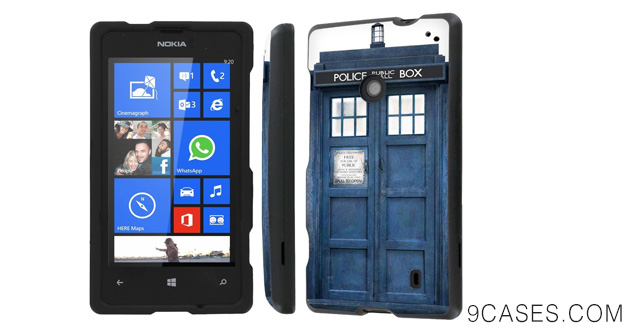 15-NakedShield Nokia Lumia 635 (Blue Phone Box) Total Hard Armor Protection LifeStyle Phone Case