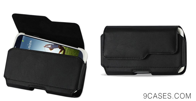17-@BNY-WIRELESS Premium Leather Pouch Case Holster Belt Clip