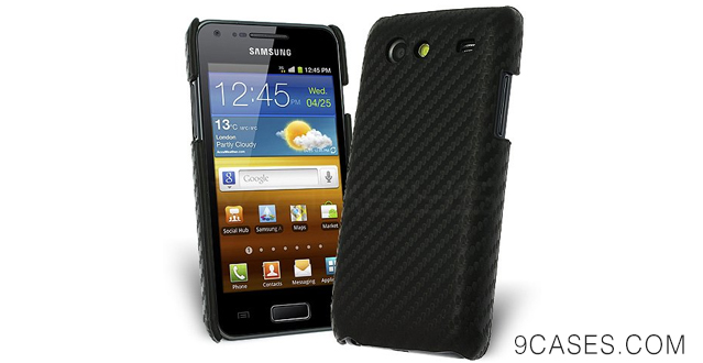 03-Celicious Black Carbon Fibre Back Cover for Samsung Galaxy S Advance I9070