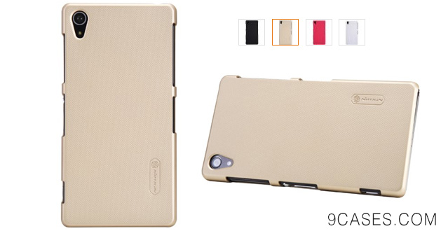 03-VSTN® Sony Xperia Z3 ultra-thin PC Case Cover with fee screen protector (Gold)
